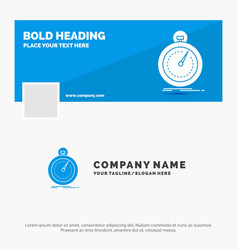 Blue business logo template for done fast vector
