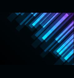 Blue stripe overlap in dark background vector