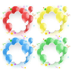 border template with colorful balloons vector image