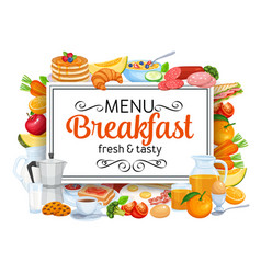 Breakfast banners template menu vector
