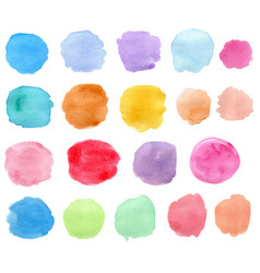 bright watercolor blots vector image