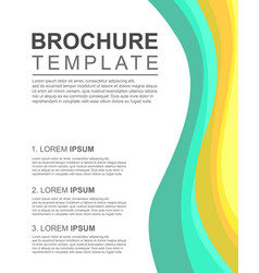 brochure layout template style collection vector image