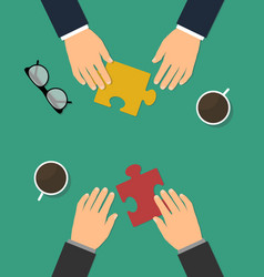 business cooperation and partnership vector image