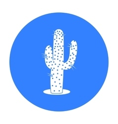 Cactus icon black singe western icon from the vector