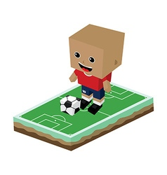 cartoon soccer player vector image