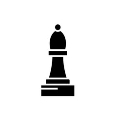 Chess bishop icon black sign vector