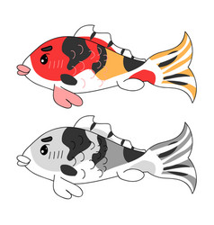 colorful carp vector image