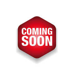 Coming soon label tag vector