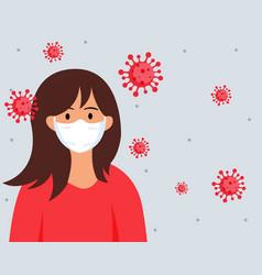 concept stop wuhan novel coronavirus outbreak vector image