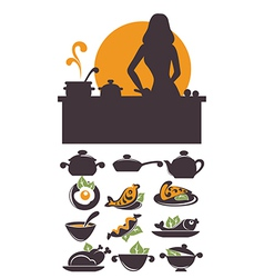 cooking time vector image