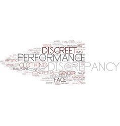 Discrepancy word cloud concept vector