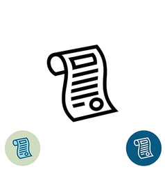 Document outline icon vector