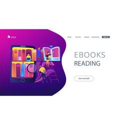 e-library concept vector image