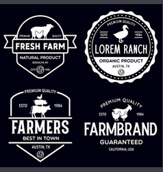 farmers market logo templates stamps labels badges vector image