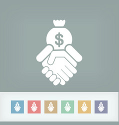 Financial agreement icon vector