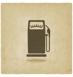 gasoline pump old background vector image