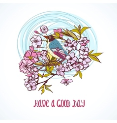 Good day wishing card vector image