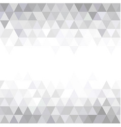grey triangular mosaic abstract seamless pattern vector image