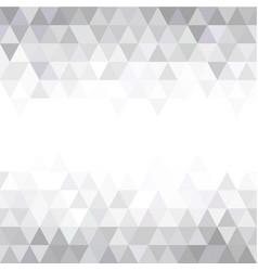grey triangular mosaic abstract seamless pattern vector image