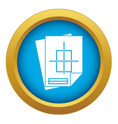 Home construction project icon blue vector