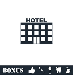 Hotel icon flat vector image