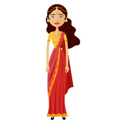 Indian young cartoon businesswoman vector