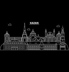 kazan silhouette skyline russia - kazan vector image