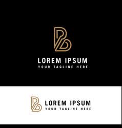 letter b logo monoline with minimalist style vector image