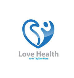 love health logo designs vector image
