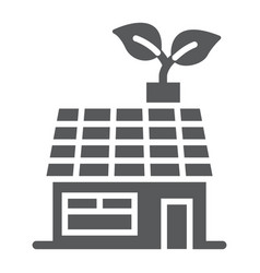 Low energy house glyph icon ecology and energy vector