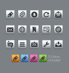 Messages icons - satinbox series vector