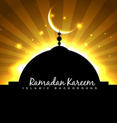 mosque and moon vector image