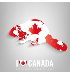 National Canada symbol Beaver with an official vector image