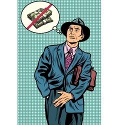 no money businessman vector image