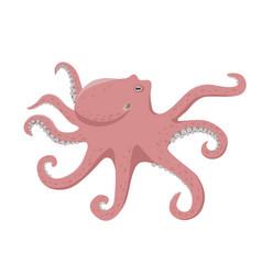 Octopus in flat design vector