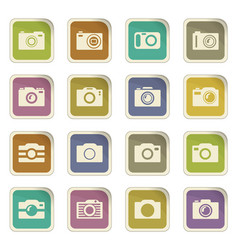 photo camera icon set vector image