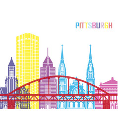 pittsburgh v2 skyline pop vector image