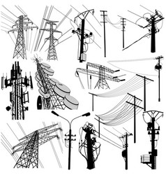 Power tower format vector