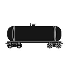 Railway tank caroil single icon in black style vector