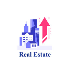 real estate investment and development vector image