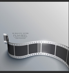 Realistic 3d film strip background in perspective vector