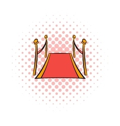 Red carpet comics icon vector