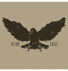 Retro eagle vector image