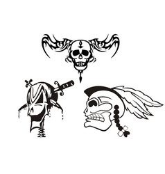 roman skull tattoo images vector image