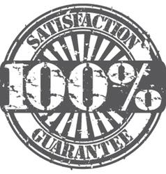 Satisifaction guarantee 100 percent grunge stamp vector