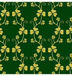 Seamless pattern with clover vector