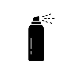 Silhouette aerosol spray can outline deodorant vector