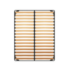 Slats bed frame vector