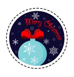 snowflake ball merry christmas vector image