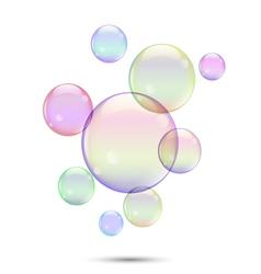 Soap bubbles1 vector image